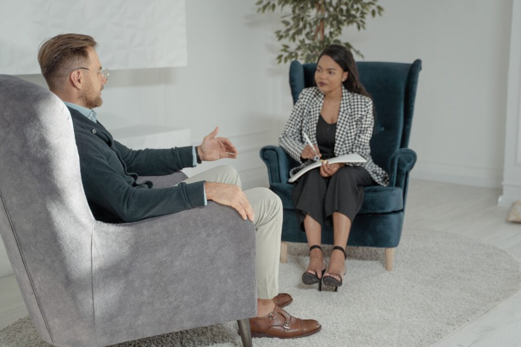 veteran in individual counseling session
